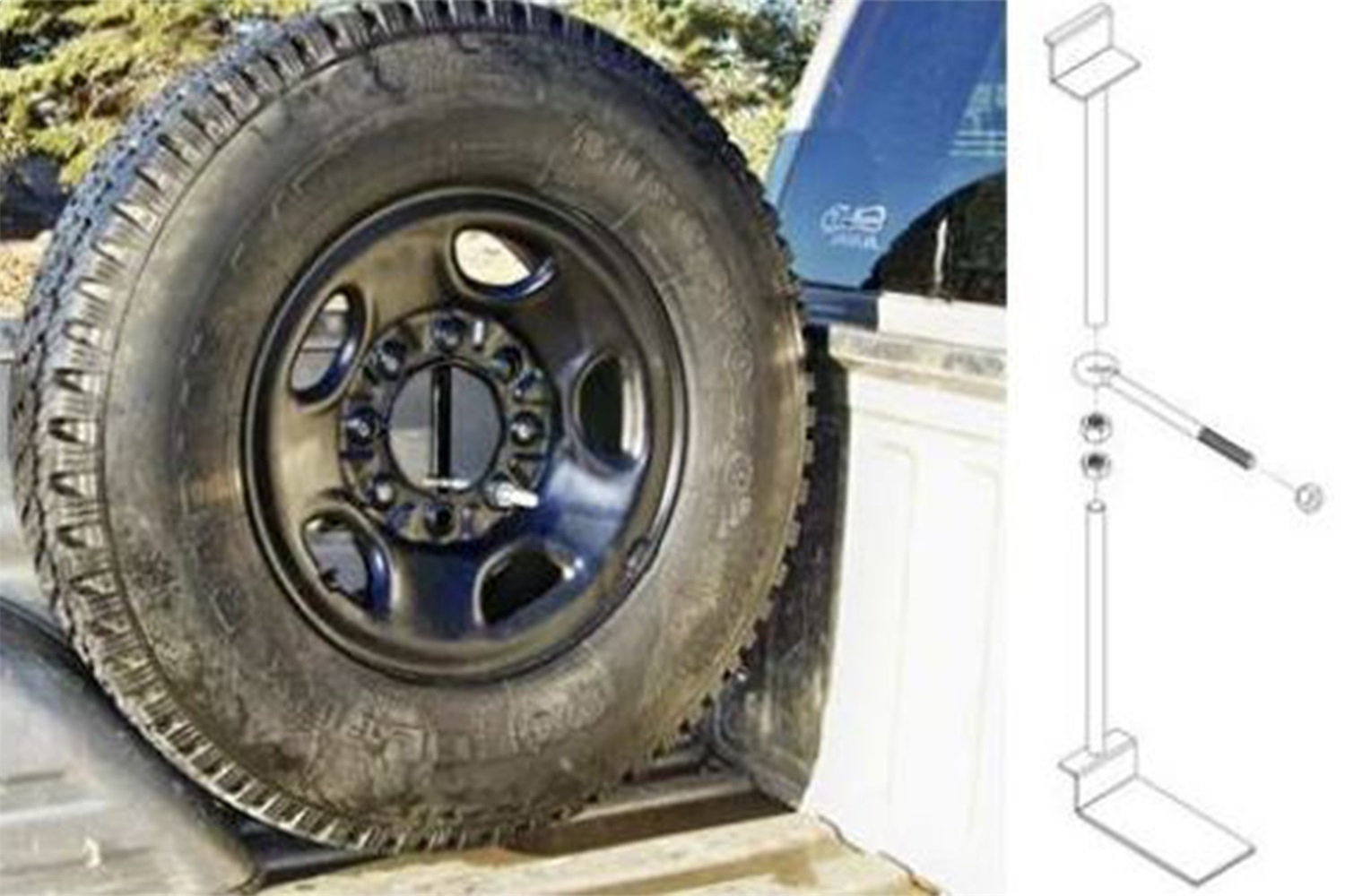 TITAN Fuel Tanks Spare Tire Carrier Mount