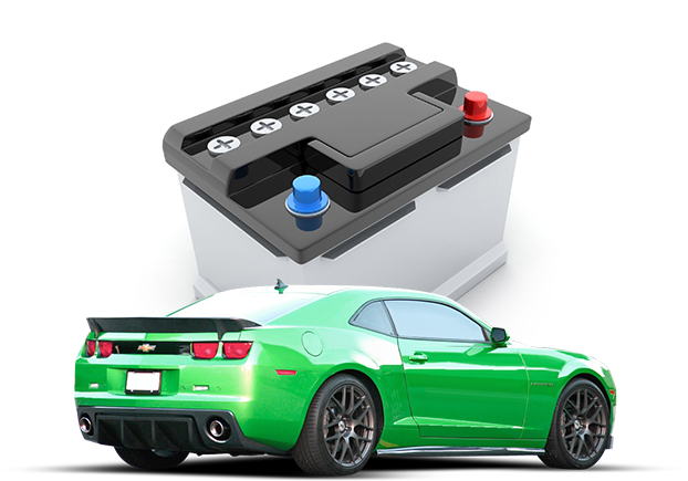 Battery and sports car